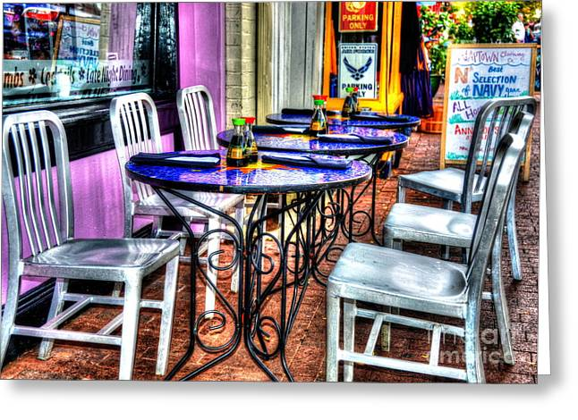 Table For Six Greeting Card by Debbi Granruth