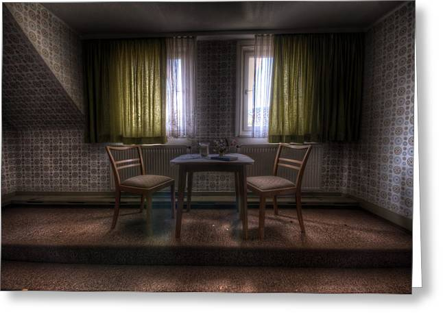 Haunted House Digital Greeting Cards - Table for two Greeting Card by Nathan Wright