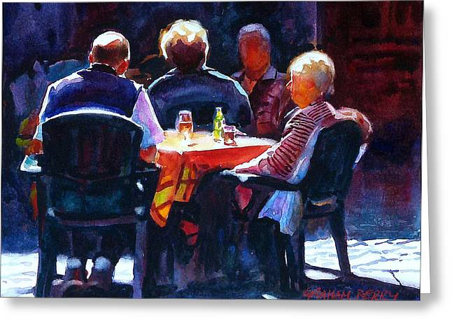 Al Fresco Greeting Cards - Table in the sun Greeting Card by Graham Berry