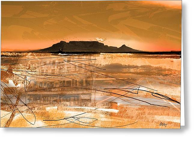 Cape Town Digital Art Greeting Cards - Table Mountain Journal Greeting Card by Andre Pillay
