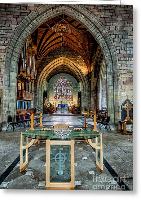 Vaulted Ceilings Greeting Cards - Table Reflections Greeting Card by Adrian Evans