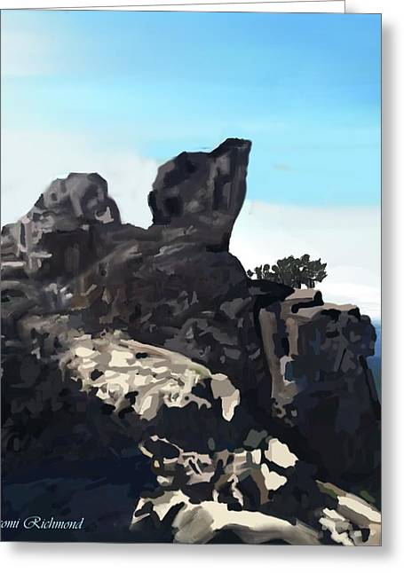 Calistoga Digital Art Greeting Cards - Table Rock Calistoga California Greeting Card by Naomi Richmond