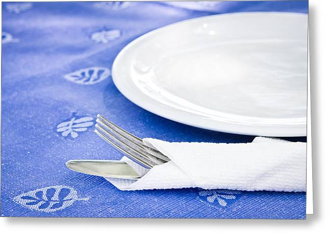 Table Setting Greeting Card by Tom Gowanlock