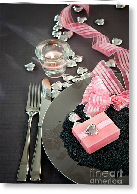 Banquet Greeting Cards - Table Settings Greeting Card by Mythja  Photography