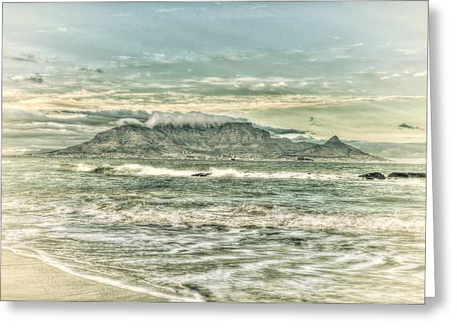 Cape Town Digital Art Greeting Cards - Table View Greeting Card by Babur Yakar