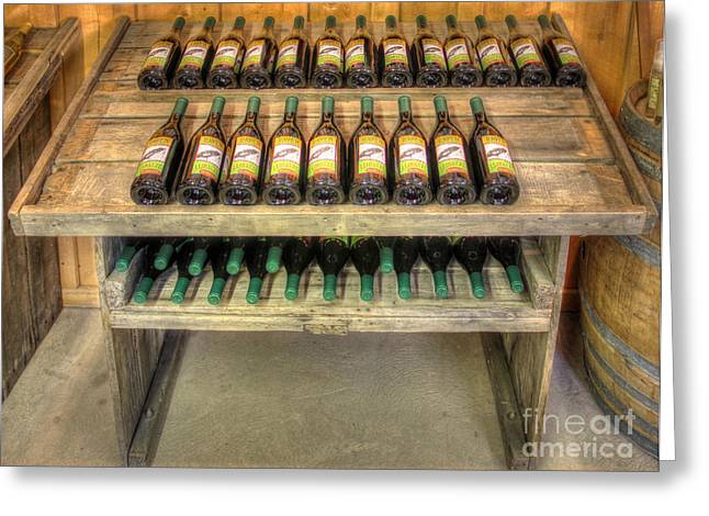 Table Wine Greeting Cards - Table Wine Greeting Card by Bob Hislop