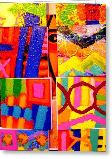 Artist Collection Greeting Cards - Tableau of Paintings - I spy. Greeting Card by John  Nolan