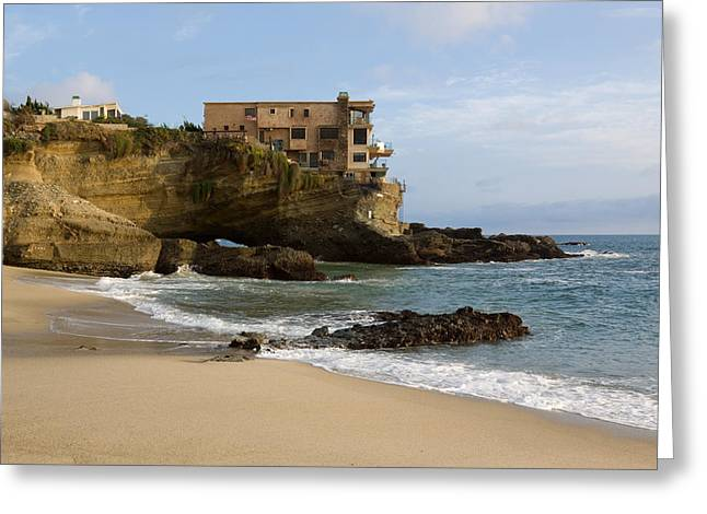 Sandstone Bluffs Greeting Cards - Tablerock Beach Laguna Beach Greeting Card by Cliff Wassmann