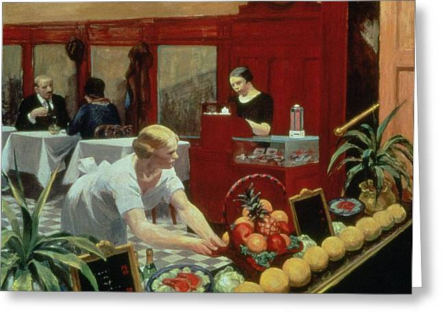 Waitresses Greeting Cards - Tables for Ladies Greeting Card by Edward Hopper
