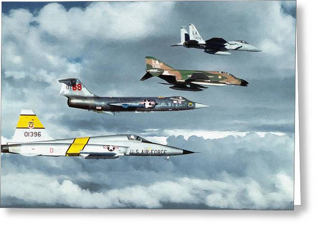 Starfighter Greeting Cards - Tac Greeting Card by Dale Jackson