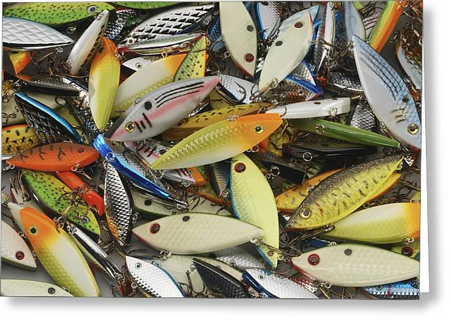 Tackle Box Tangle Greeting Card by Jerry McElroy