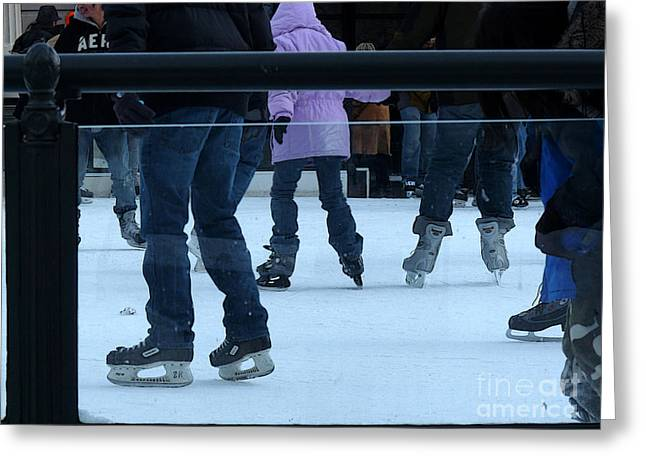 Ice-skating Greeting Cards - Tacks and Bauers Greeting Card by David Bearden