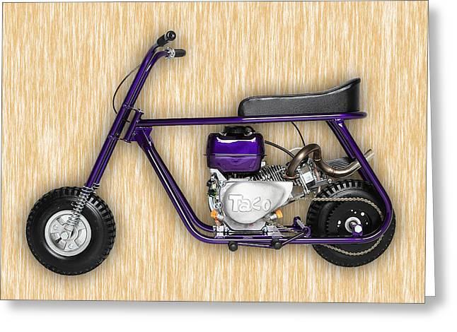 Mini Bike Greeting Cards - Taco 22 Mini Bike Greeting Card by Marvin Blaine