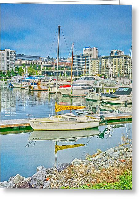 Ron Roberts Photography Greeting Cards - Tacoma Marina Greeting Card by Ron Roberts