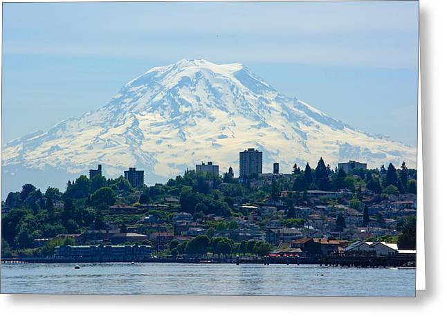 Ruston Greeting Cards - Tacoma Rainier Greeting Card by Roger Reeves  and Terrie Heslop