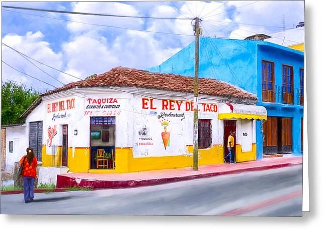 Mexican Culture Greeting Cards - Tacos For Lunch In Chiapas Greeting Card by Mark Tisdale