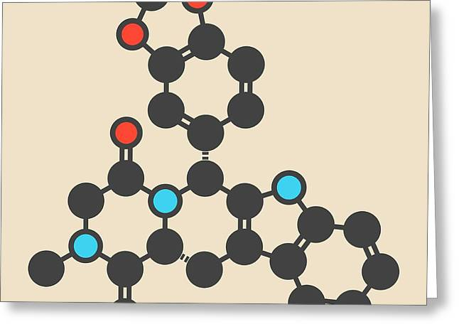 Tadalafil Molecule Greeting Card by Molekuul