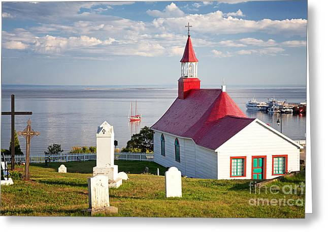 Chapel Photographs Greeting Cards - Tadoussac Chapel Greeting Card by Jane Rix