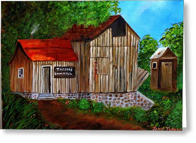 Deer Camp Greeting Cards - Tafoyas Old Sawmill in Colorado Greeting Card by Janis  Tafoya