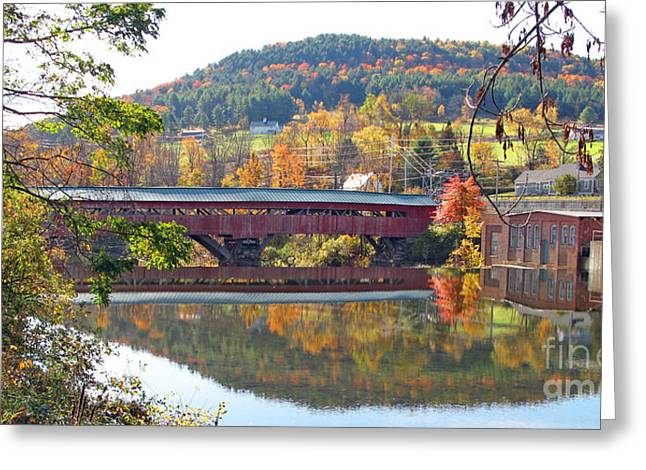 Taftsville Covered Bridge  0190 Greeting Card by Jack Schultz