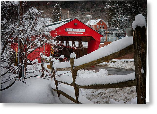 Taftsville Covered Bridge Greeting Card by Jeff Folger