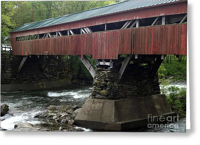 Taftsville Covered Bridge Greeting Card by John Greco