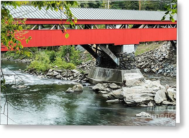 Historic Sites Greeting Cards - Taftsville Covered Bridge Vermont Greeting Card by Edward Fielding