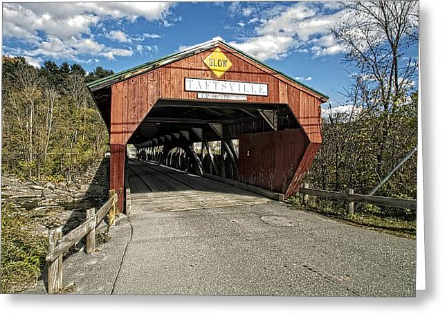 Taftsville Vermont Covered Bridge Greeting Card by Constantine Gregory