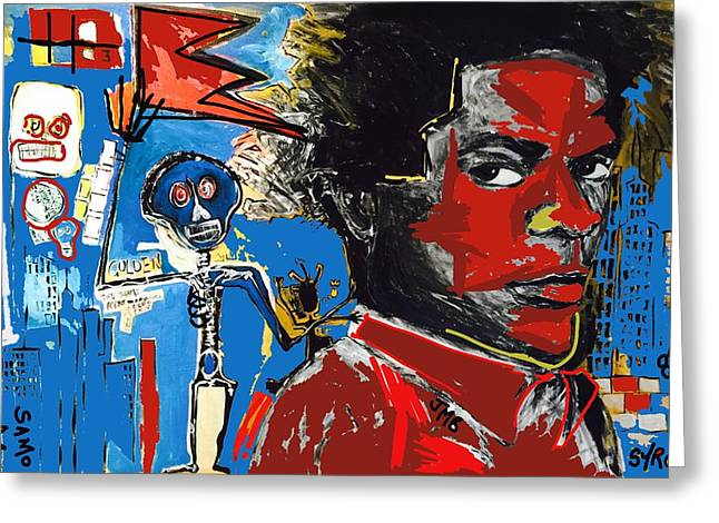 Basquiat Drawings Greeting Cards - Tag Greeting Card by Helen Syron