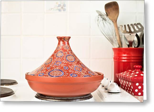 Ethnic Food Greeting Cards - Tagine Greeting Card by Tom Gowanlock