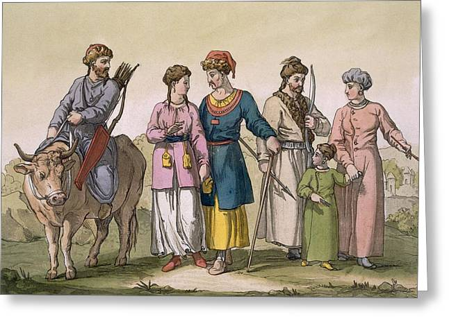Taguri Tatars Of The Crimea Greeting Card by D.K. Bonatti