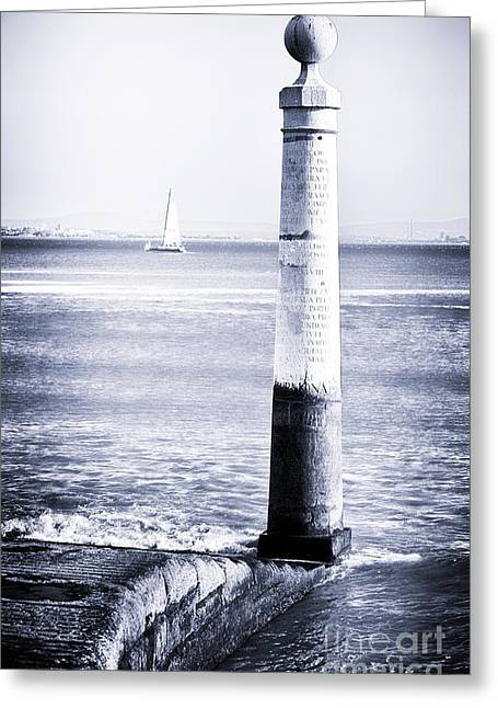 River View Greeting Cards - Tagus River View Greeting Card by John Rizzuto