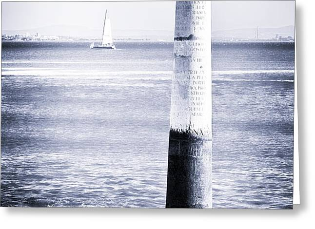 Tagus River View Greeting Card by John Rizzuto