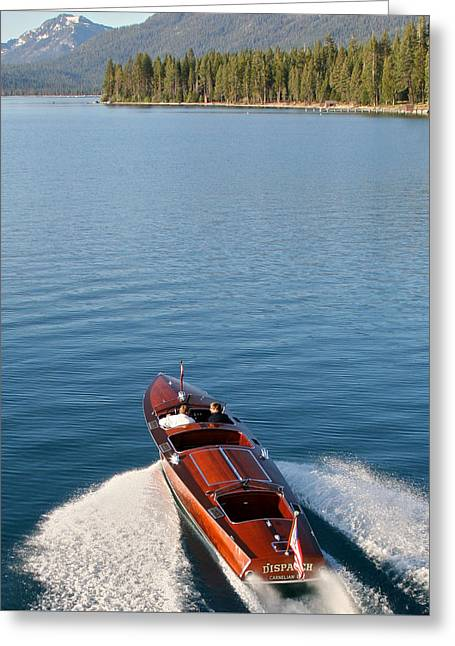 Mahogany Greeting Cards - Tahoe Classic Runabout Greeting Card by Steven Lapkin