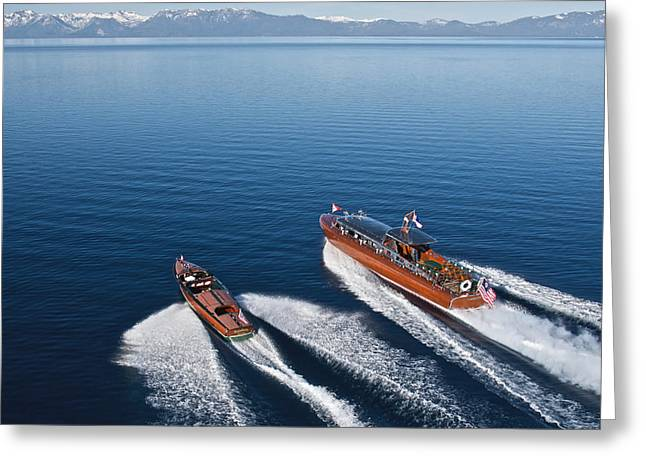 Mahogany Boat Greeting Cards - Tahoe Concours d Elegance Greeting Card by Steven Lapkin