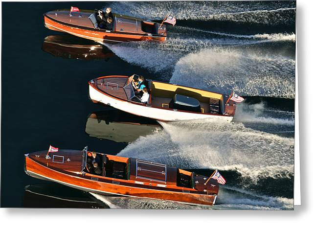 Mahogany Boat Greeting Cards - Tahoe Concours Favorites Greeting Card by Steven Lapkin
