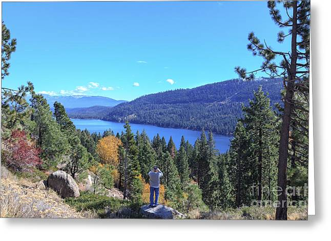 Tahoe National Forest Greeting Cards - Tahoe Photographer Greeting Card by Jannis Werner