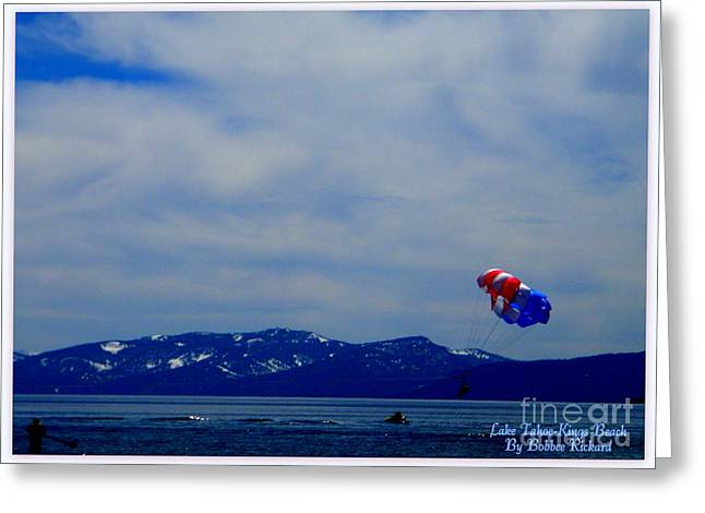 Matting Greeting Cards - Tahoe Recreation Greeting Card by Bobbee Rickard