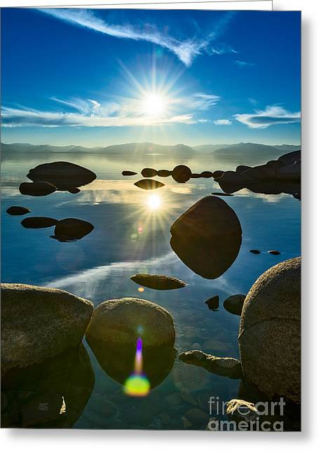 Unique View Greeting Cards - Tahoe Star Greeting Card by Jamie Pham