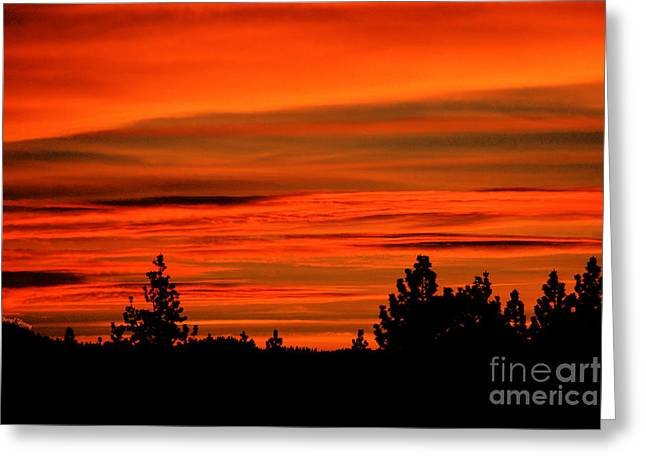 South Lake Tahoe Greeting Cards - Tahoe Sunset Greeting Card by Cheryl Young