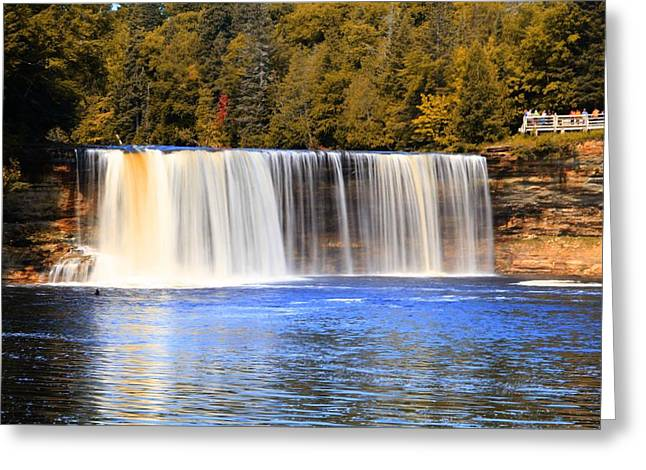 The Great Lakes Greeting Cards - Tahquamenon Falls In Autumn Greeting Card by Dan Sproul