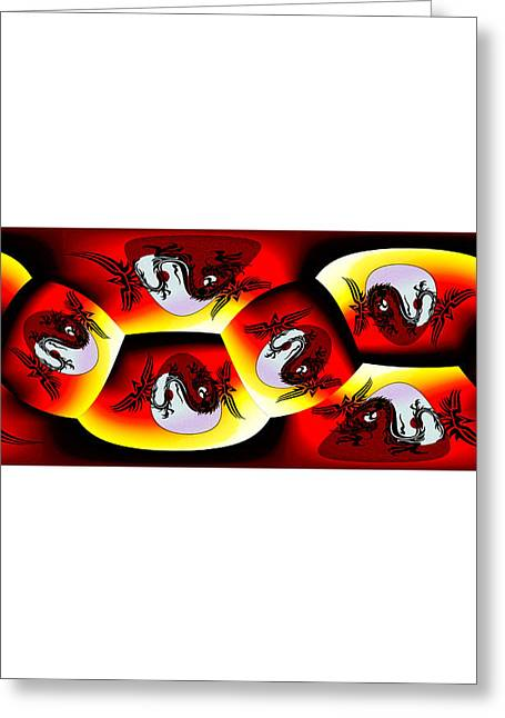 Ying Greeting Cards - Tai Chi Project 2 Greeting Card by Teri Schuster