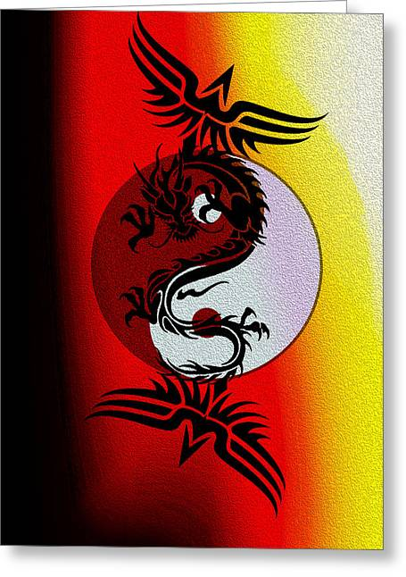 Yang Greeting Cards - Tai Chi Project 3 Greeting Card by Teri Schuster