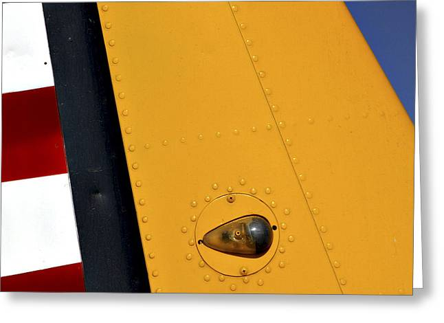 Trainer Greeting Cards - Tail Detail of Vultee BT-13 Valiant Greeting Card by Carol Leigh