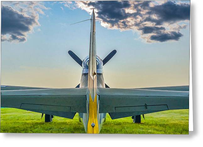 North American P51 Mustang Digital Art Greeting Cards - Tail end Charlie Greeting Card by Paul Quinn