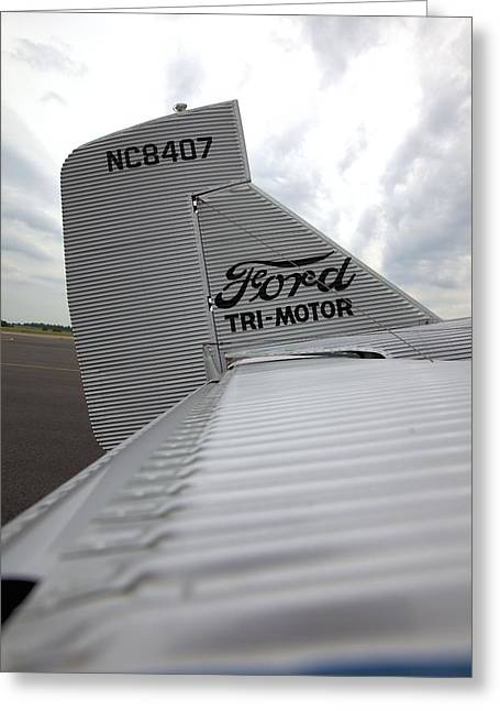 Ford Tri-motor Greeting Cards - Tail Feathers Greeting Card by Gordon Elwell