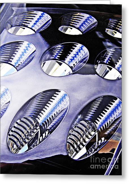 Oval Photographs Greeting Cards - Tail Light Detail Greeting Card by Sarah Loft