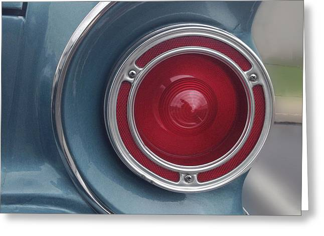 Falcon Greeting Cards - Tail Light Ford Falcon 1961 Greeting Card by Don Spenner