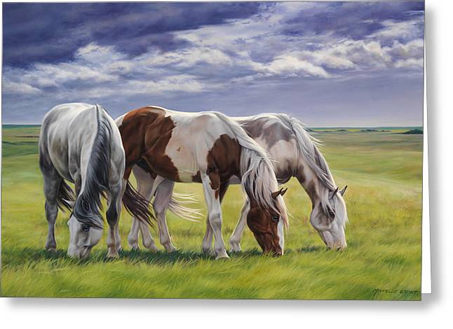 Horse Herd Greeting Cards - Tail Wind Greeting Card by JQ Licensing
