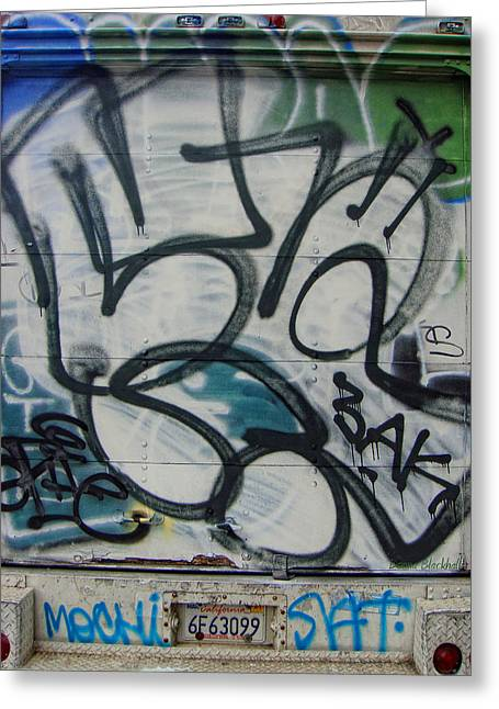 Graffiti Decor Greeting Cards - Tailgate Party Greeting Card by Donna Blackhall